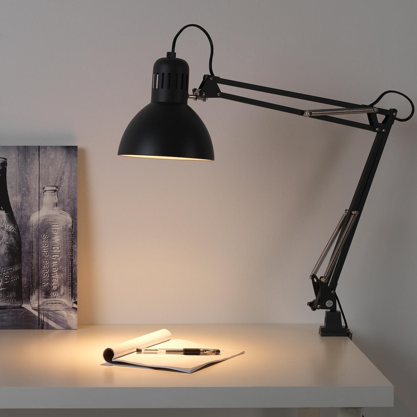 IKEA TERTIAL DARK GREY DESK WORK LAMP ARM AND HEAD ARE