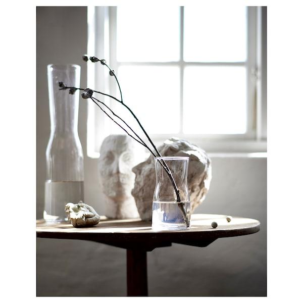 TIDVATTEN Vase, clear glass, 30 cm