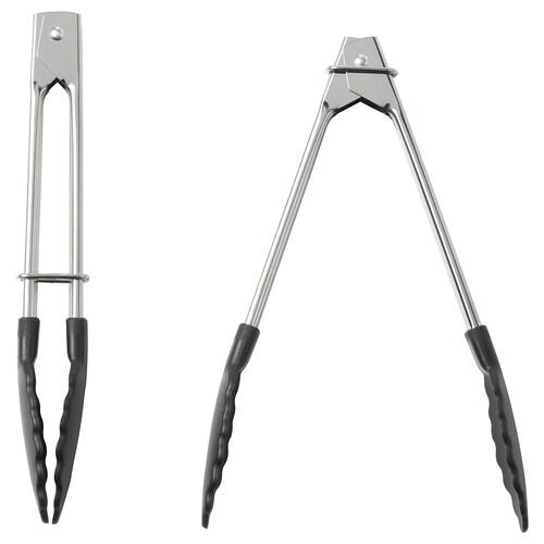 TILLÄMPAD tongs stainless steel 18 cm 2 pack