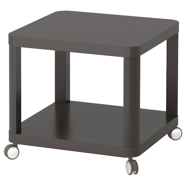 TINGBY Side table on castors, grey, 50x50 cm