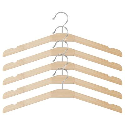 TJENARE Clothes-hanger, bamboo, 5 pack
