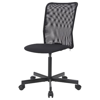 TOBERGET Swivel chair, Vissle black