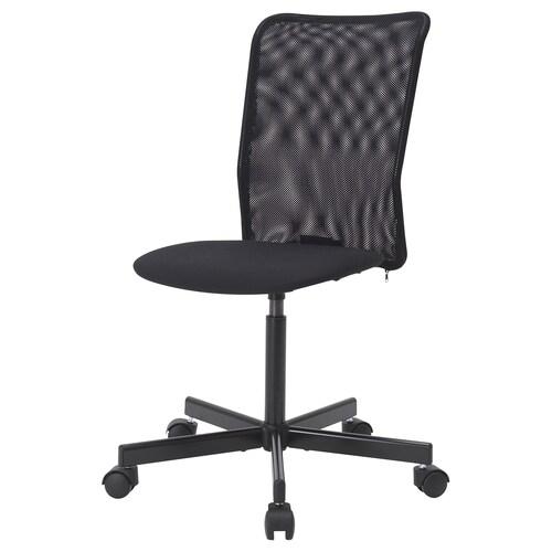TOBERGET swivel chair Vissle black 110 kg 60 cm 98.5 cm 40 cm 39 cm 43.5 cm 54.5 cm