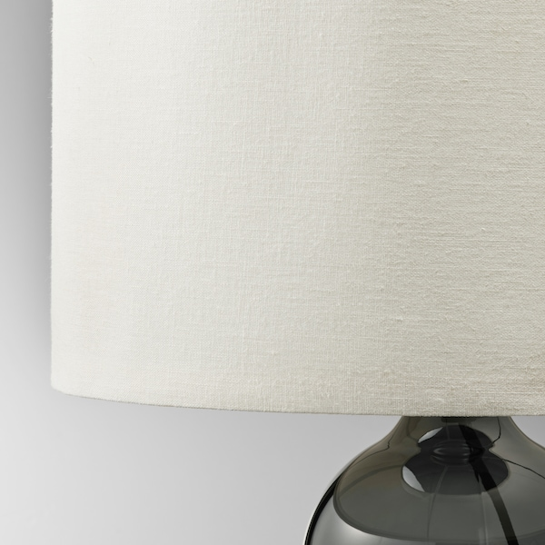TONVIS Table lamp, smoked glass/white, 52 cm