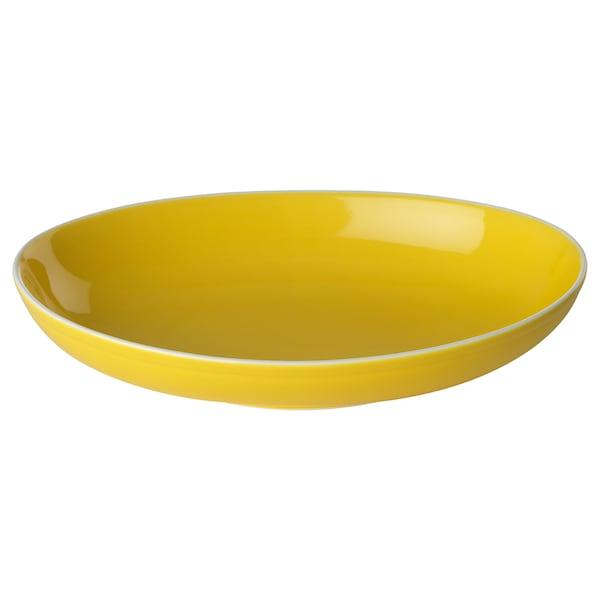 TOPPIGHET bowl yellow/oval 25 cm 17 cm