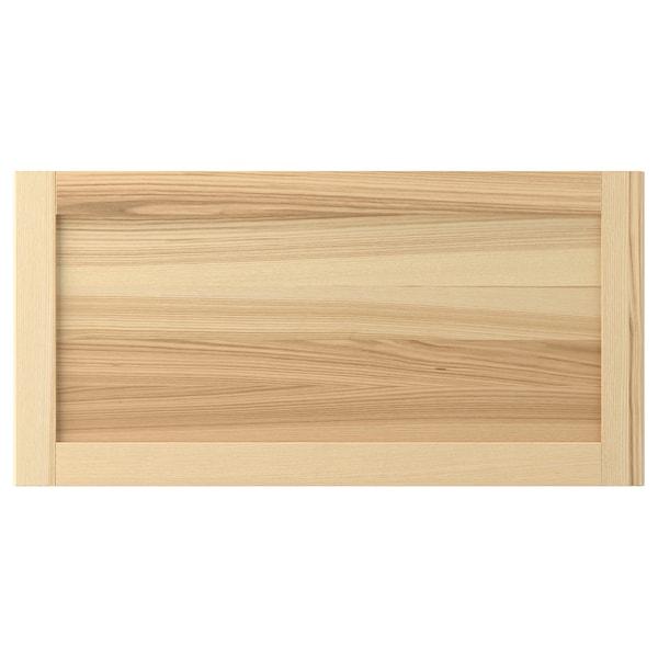 TORHAMN Drawer front, natural ash, 80x40 cm