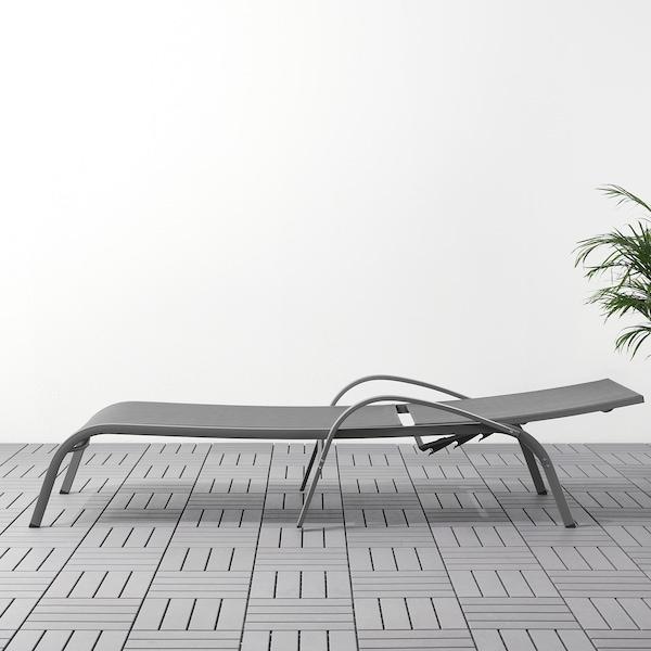 TORHOLMEN Sun lounger, grey