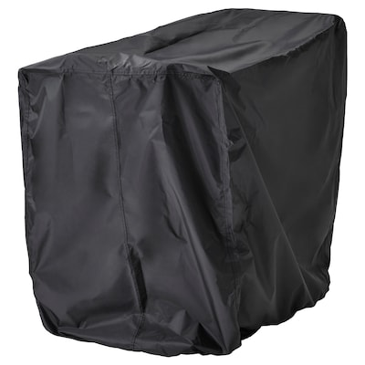 TOSTERÖ Cover for furniture set, table and chairs/black, 100x70 cm