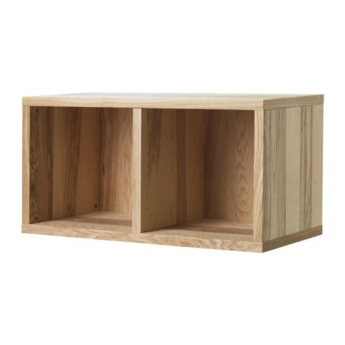 TRÄBY Shelf unit IKEA Colour variations in the veneer give your shelf combination a unique appearance.  Brushed surface; gives a genuine wooden feel.