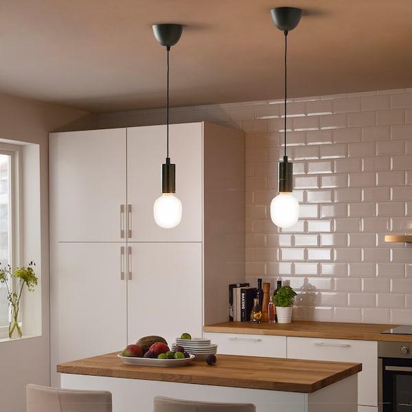 TRÅDFRI LED bulb E26 440 lumen, wireless dimmable white spectrum/tube-shaped white frosted glass