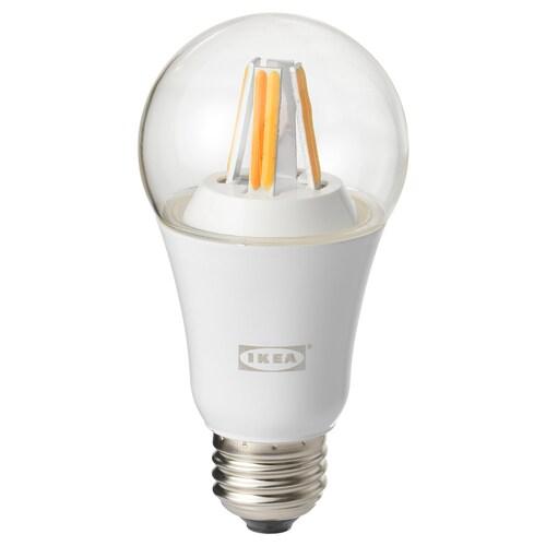 TRÅDFRI LED bulb E26 806 lumen wireless dimmable white spectrum/globe clear 806 lm 2700 K 6 cm 6 cm 12 cm 9.0 W