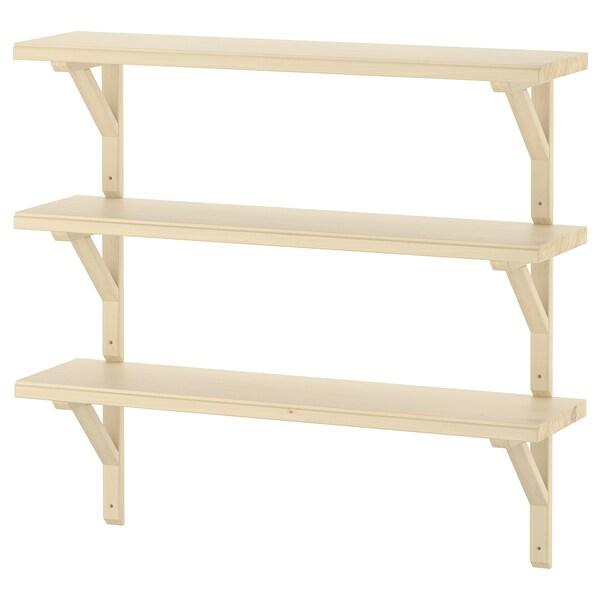 TRANHULT / SANDSHULT Wall shelf combination, aspen, 80x20 cm