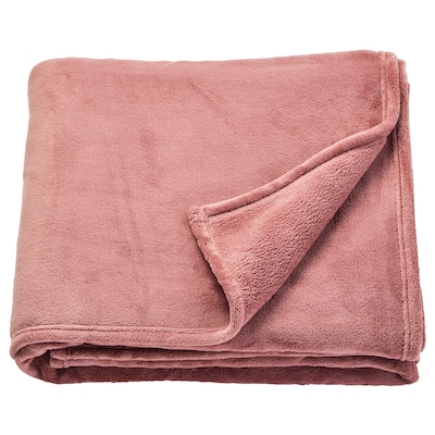 TRATTVIVA Bedspread, dark pink, 150x250 cm