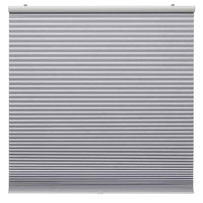 TRIPPEVALS Block-out cellular blind, light grey, 80x195 cm