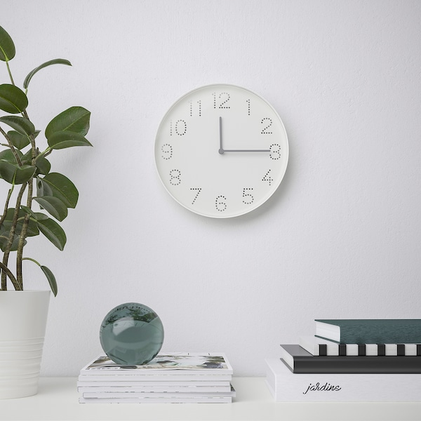 TROMMA Wall clock, white, 25 cm
