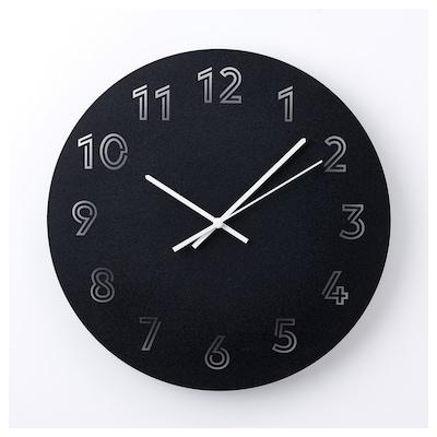 TUNNIS Wall clock, black, 30 cm