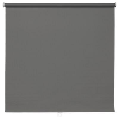 TUPPLUR Block-out roller blind, grey, 120x195 cm