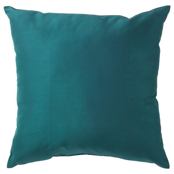 ULLKAKTUS Cushion, dark blue-green, 50x50 cm