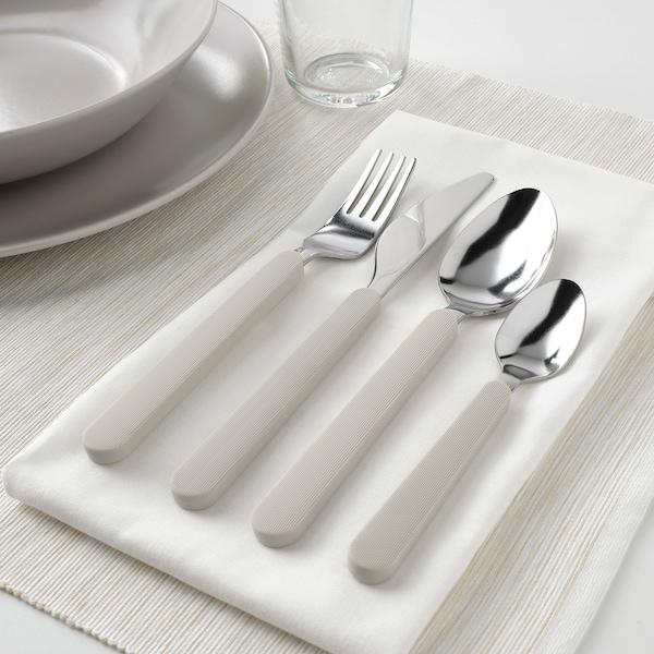 UPPHÖJD 16-piece cutlery set, beige