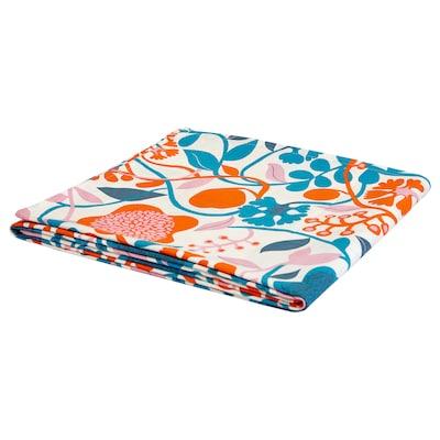 URSPRUNGLIG Tablecloth, multicoloured, dark, 145x240 cm