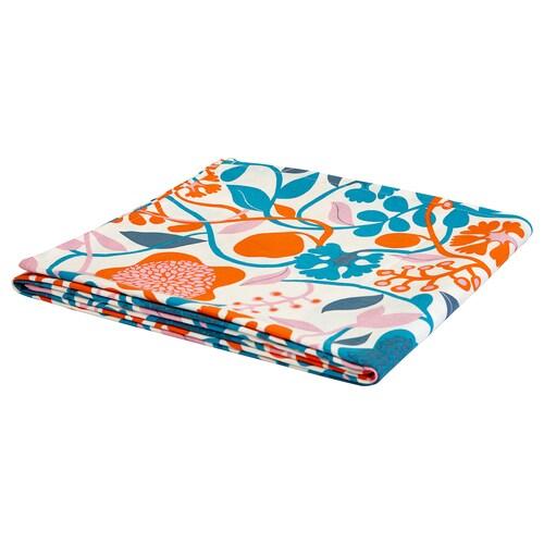 URSPRUNGLIG tablecloth multicoloured, dark 240 cm 145 cm