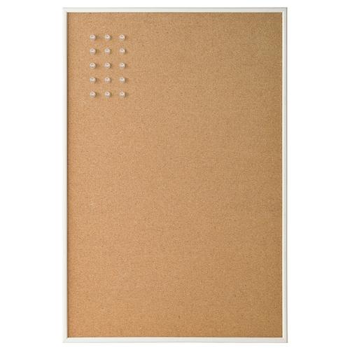 VÄGGIS memo board with pins white 58 cm 39 cm