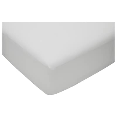 VÄGTISTEL Fitted sheet, white, 90x200 cm