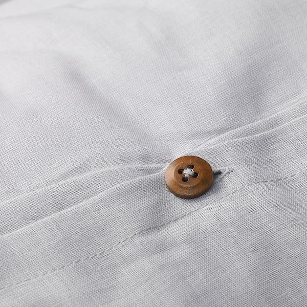 VÄGTISTEL quilt cover and pillowcase light grey/button 104 /inch² 200 cm 150 cm 50 cm 60 cm
