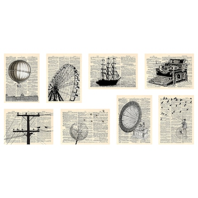 VÄXBO Art card, newspapers, 13x18 cm