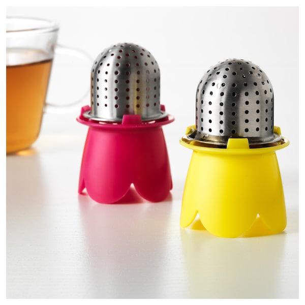 VÅGRÄT Tea infuser, light red/yellow