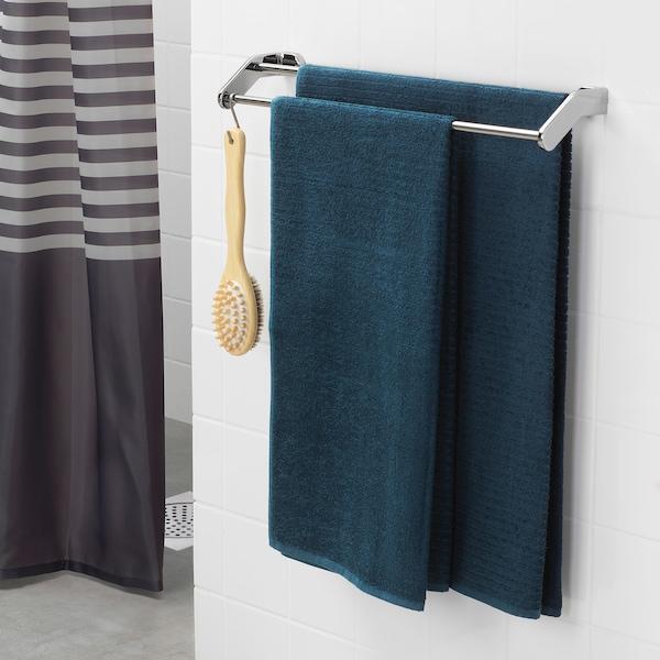 VÅGSJÖN Bath towel, dark blue, 70x140 cm