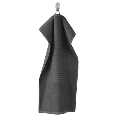VÅGSJÖN Hand towel, dark grey, 40x70 cm