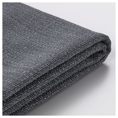 VALLENTUNA Cover for back cushion, Hillared dark grey