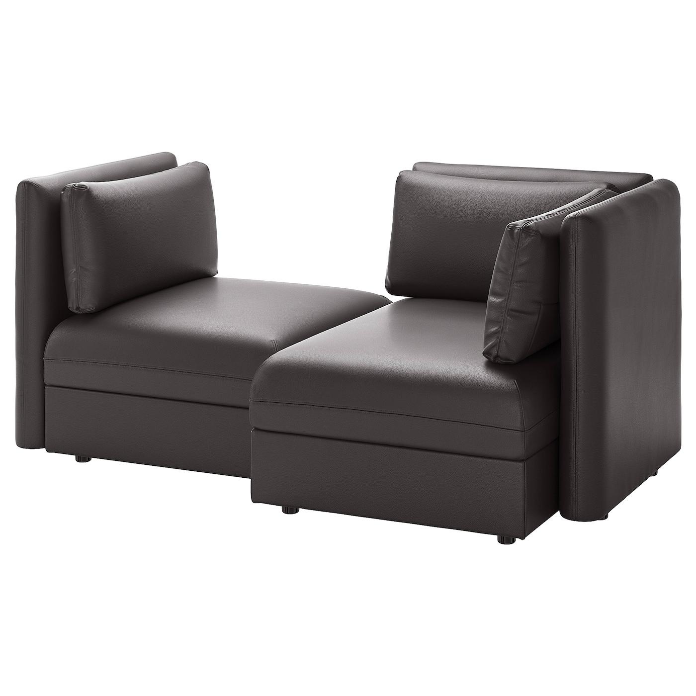 Vallentuna 2 Seat Modular Sofa With Storage Murum Black