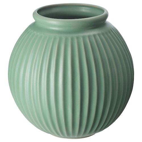 VANLIGEN vase green 18 cm 18.5 cm
