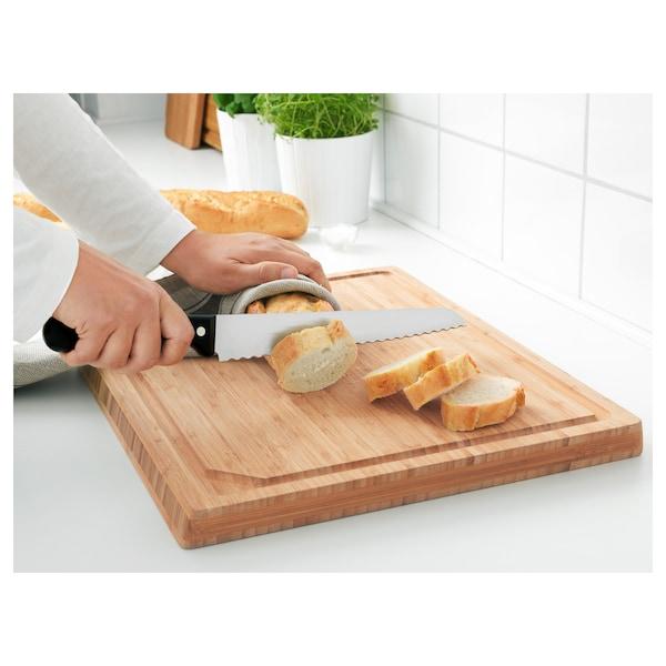 VARDAGEN Bread knife, dark grey, 23 cm