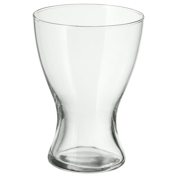 VASEN Vase, clear glass, 20 cm