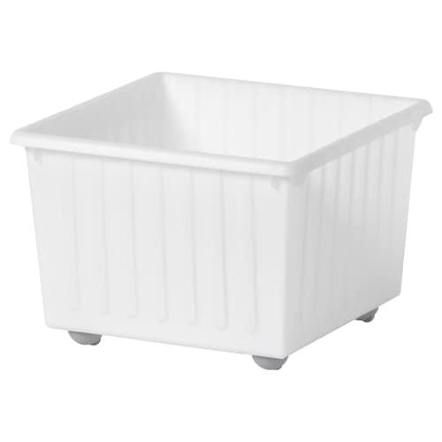 VESSLA storage crate with castors white 39 cm 39 cm 28 cm