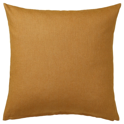 VIGDIS Cushion cover, dark golden-brown, 50x50 cm