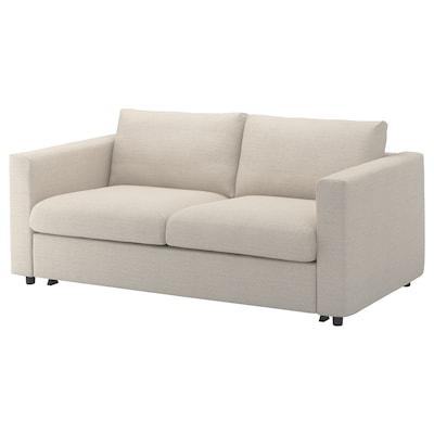 VIMLE 2-seat sofa-bed, Gunnared beige