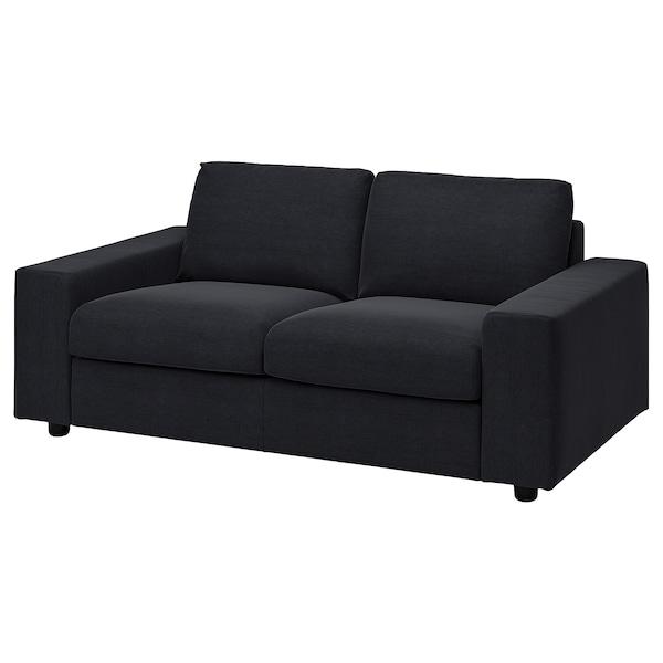 VIMLE 2-seat sofa, with wide armrests/Saxemara black-blue