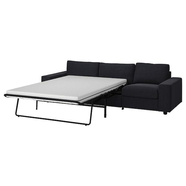 VIMLE 3-seat sofa-bed, with wide armrests/Saxemara black-blue