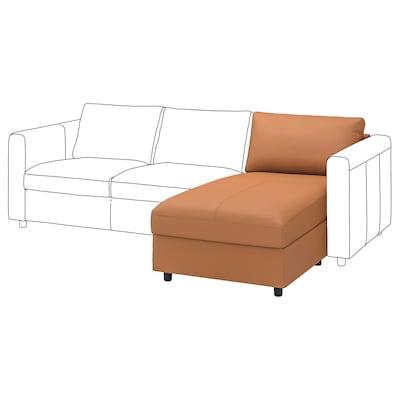 VIMLE Chaise longue section, Grann/Bomstad golden-brown