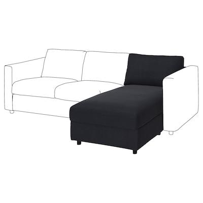 VIMLE Chaise longue section, Saxemara black-blue