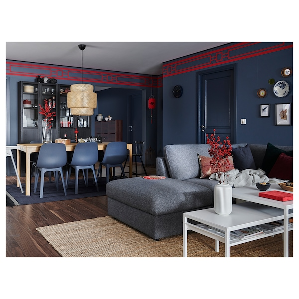 VIMLE corner sofa-bed, 4-seat with open end/Gunnared medium grey 53 cm 83 cm 68 cm 98 cm 241 cm 235 cm 268 cm 55 cm 48 cm 140 cm 200 cm 12 cm