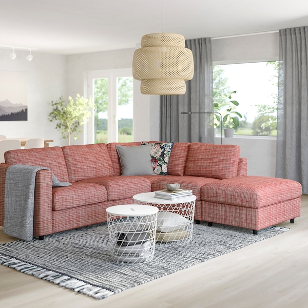 VIMLE corner sofa-bed, 4-seat with open end/Dalstorp multicolour 53 cm 83 cm 68 cm 98 cm 241 cm 235 cm 268 cm 6 cm 55 cm 48 cm 140 cm 200 cm 12 cm