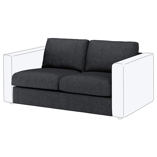 VIMLE cover for 2-seat section Tallmyra black/grey