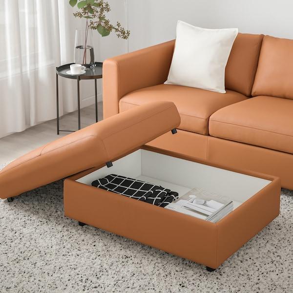 VIMLE Footstool with storage, Grann/Bomstad golden-brown