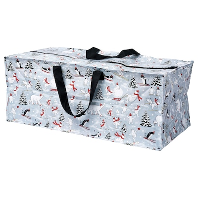 VINTER 2020 Storage bag, animal pattern grey, 35x73x30 cm/76 l