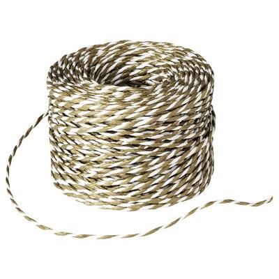 VINTER 2020 String, white/gold-colour, 40 m